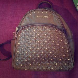 brown michael kors backpack